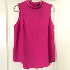 Forever 21 Pink Fuchsia Sleeveless Collar Tank Top